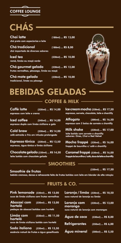 Chás e bebidas